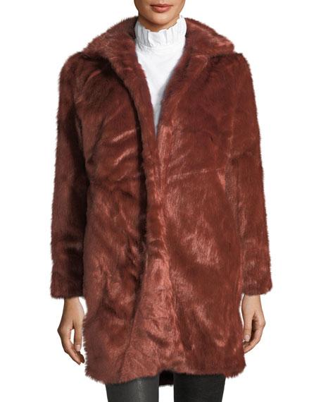 FRAME Faux-Fur Open-Front Coat
