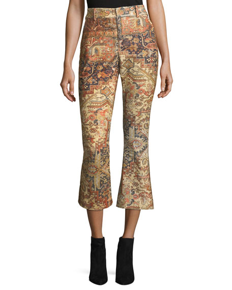 FRAME Persian Printed Flared Pants