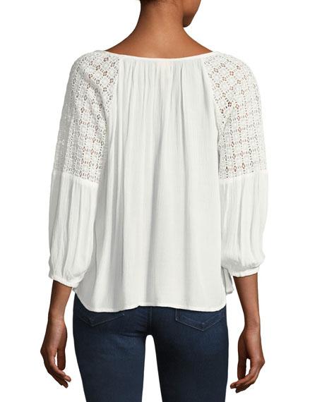 Avila Lace-Shoulder Blouse