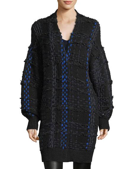 Dawson Woven Snap-Front Oversized Cardigan Coat