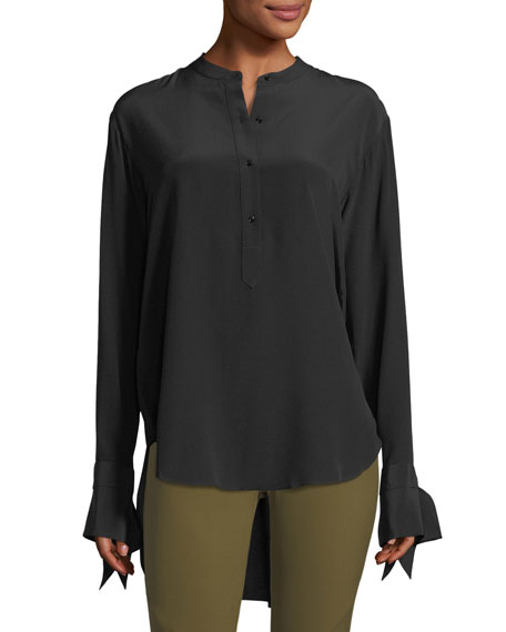 Rag & Bone Dylan Long-Sleeve Silk Blouse w/