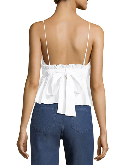 Cotton Peplum Camisole
