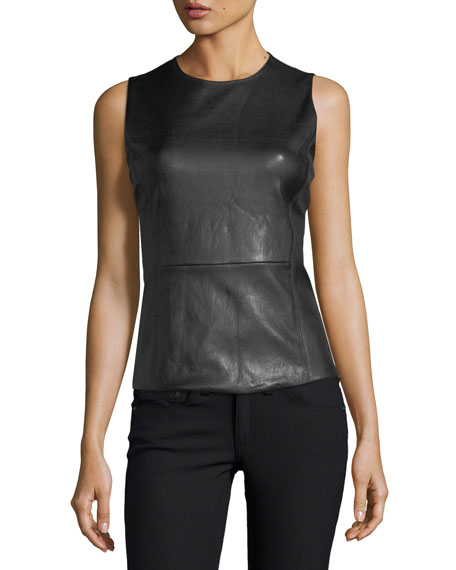 Eulia Sleeveless Bristol Leather Top