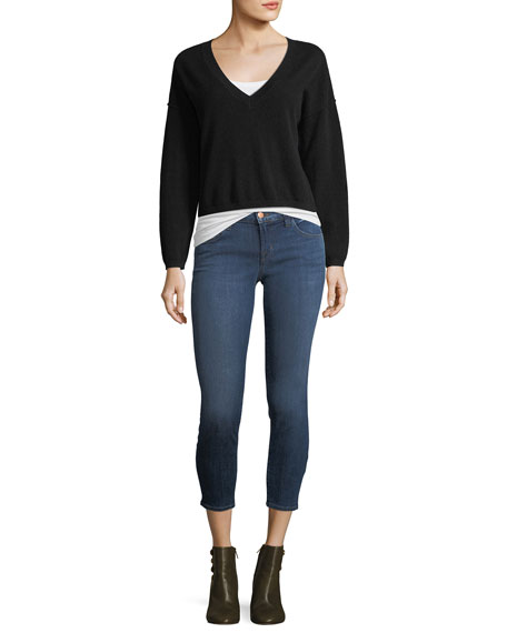 9326 Low-Rise Cropped Skinny Jeans