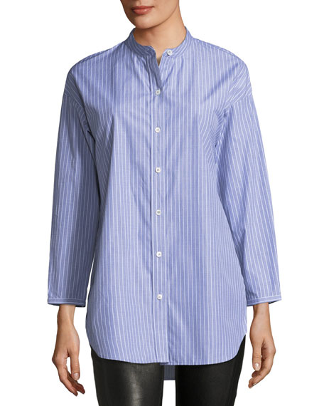 Becket Striped Tunic Blouse