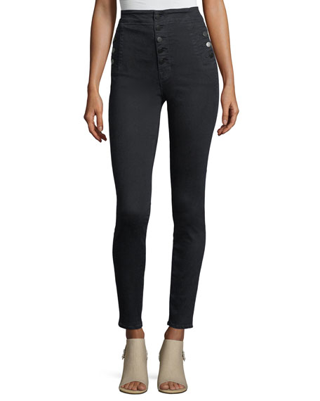 Natasha Sky High  Five-Button Skinny Jeans