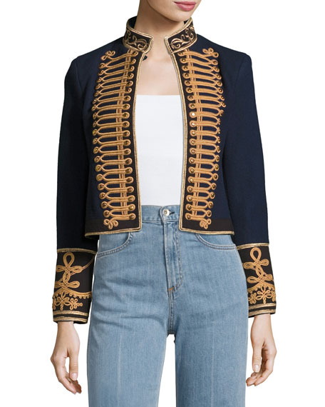 Phoenix Embroidered Military Wool Jacket