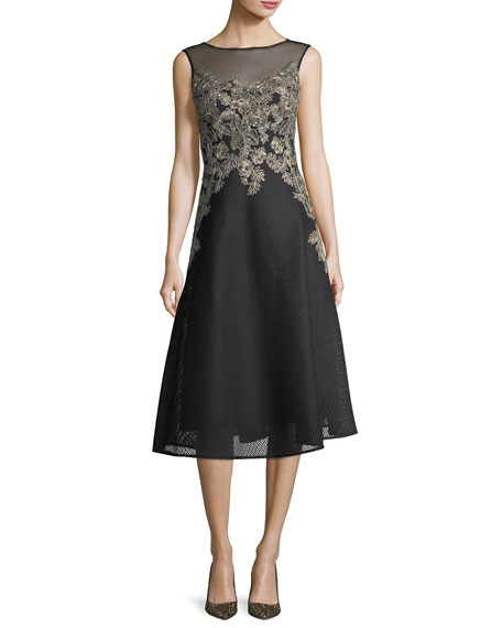 Rickie Freeman for Teri Jon Honeycomb Lace Sleeveless
