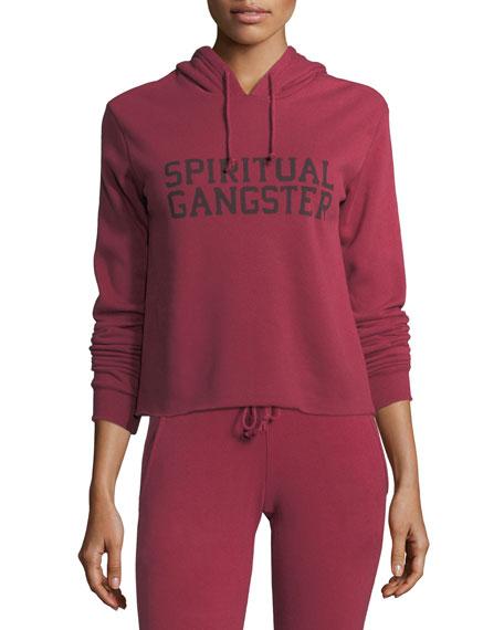 Spiritual Gangster Varsity Crop Pullover Hoodie