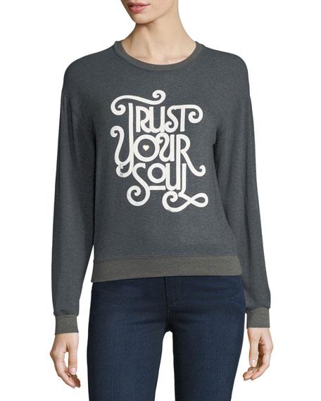 Savasana Trust Your Soul Script Pullover Sweatshirt