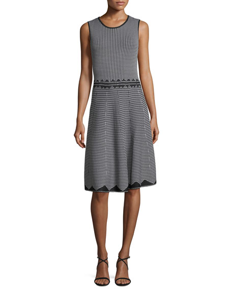 Birdseye Jacquard A-Line Dress