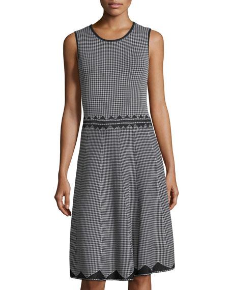 Birdseye Jacquard A-Line Dress
