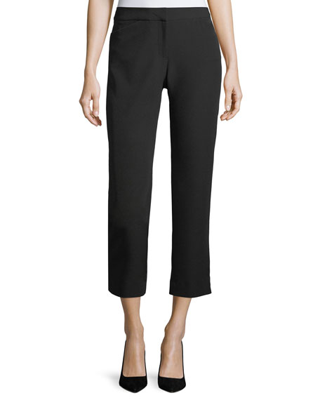 Crepe Slim-Fit Crepe Pants