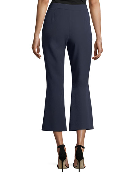 Cropped Flare-Leg Pants