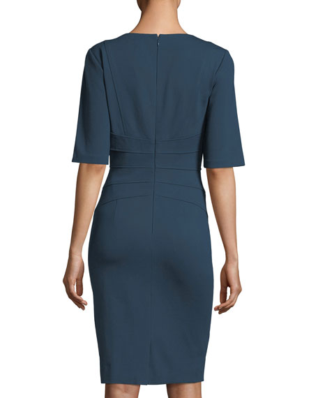 V-Neck Ponté Sheath Dress