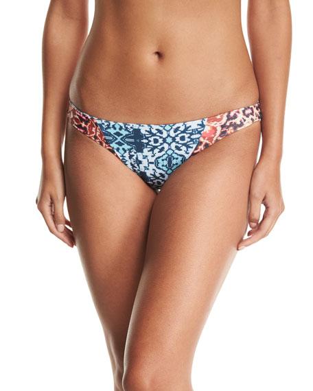 Malibu Fit Mix-Print Swim Bikini Bottom