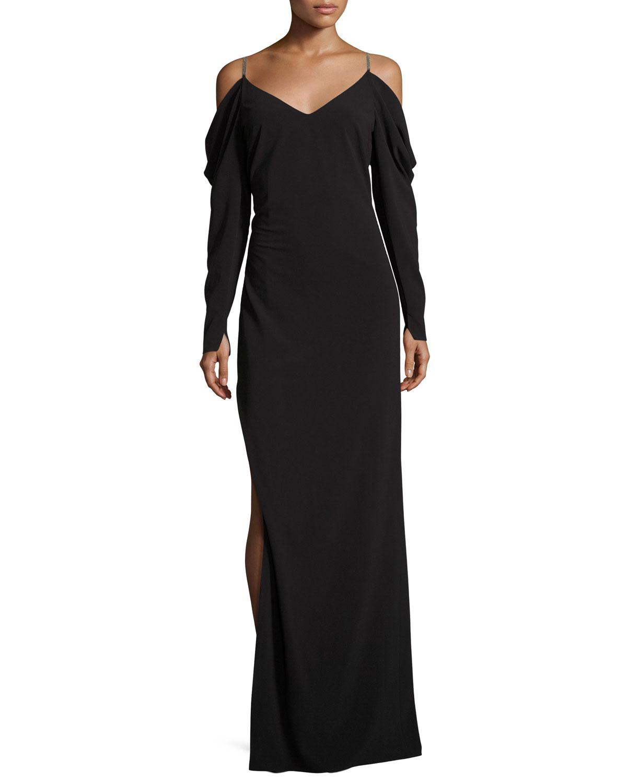 Halston Heritage Black Evening Gown | Neiman Marcus