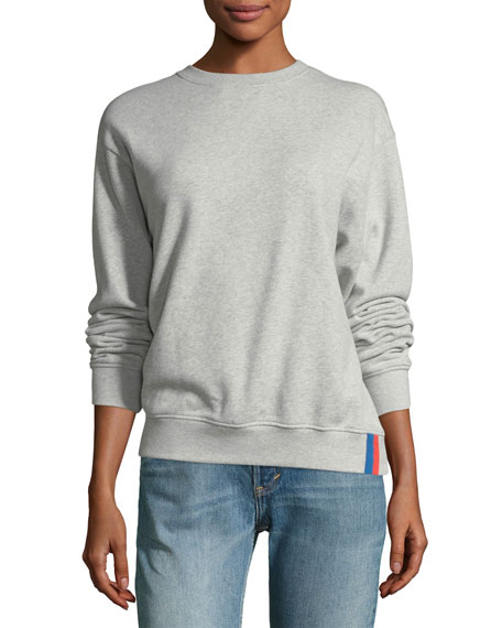 Kule Raleigh Crewneck Long-Sleeve Cotton Sweatshirt