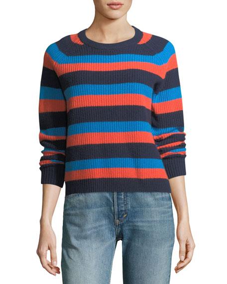 Royce Striped Crewneck Cashmere Sweater