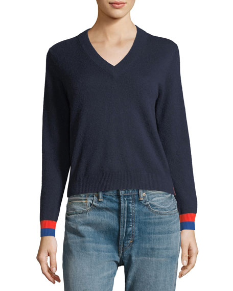 Cashmere Sawyer V-Neck Sweater Top