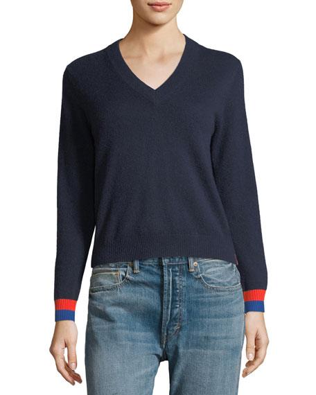 Cashmere Sawyer V-Neck Sweater Top