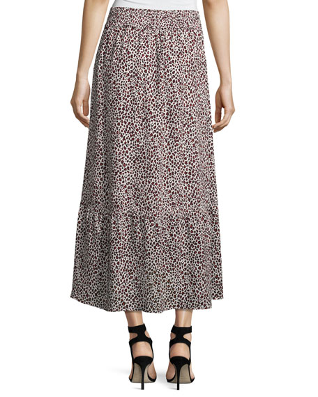 Holly A-Line Silk Midi Skirt