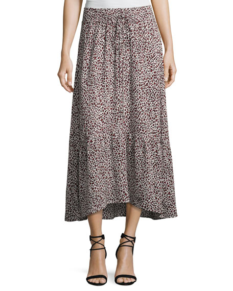 A.L.C. Holly A-Line Silk Midi Skirt