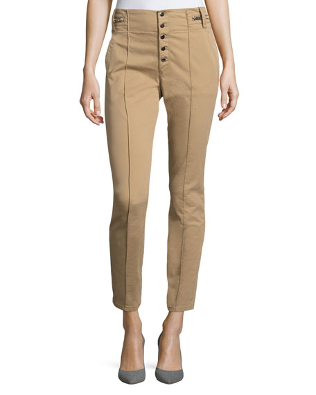A.L.C. Rowan High-Waist Skinny Cotton Pants