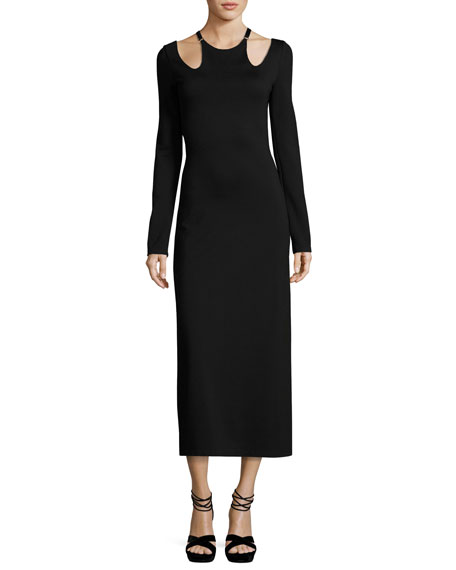 A.L.C. Jessa Long-Sleeve Cutout Ponte Midi Dress