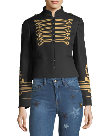 RED Valentino Marching Band Embroidered Jacket