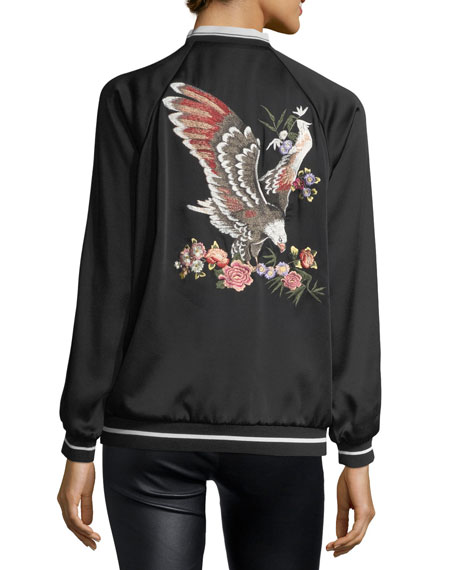 Bomber Jacket w/ Eagle Embroidery