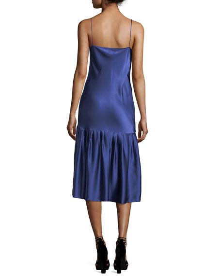 Don't Underestimate Me Silk Satin Midi Slip Dress
