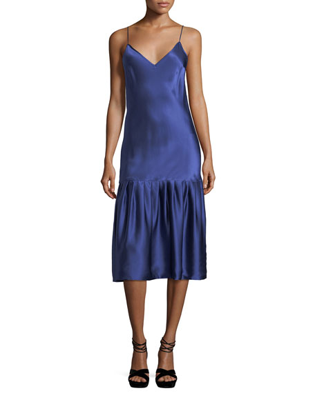 Maggie Marilyn Don't Underestimate Me Silk Satin Midi