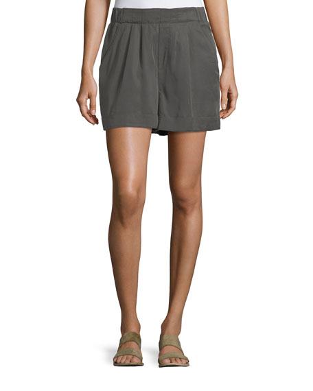 Cuffed Pleated Shorts
