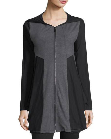 P. Luca Colorblock Zip-Front Tunic