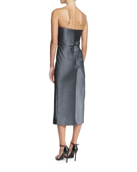 Milana Strapless Paneled Sheath Cocktail Dress