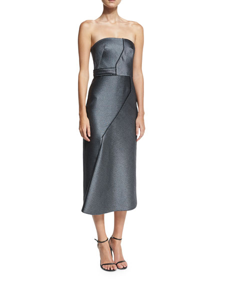 Camilla & Marc Milana Strapless Paneled Sheath Cocktail
