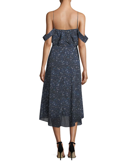 Lucia Off-the-Shoulder Chiffon Dress