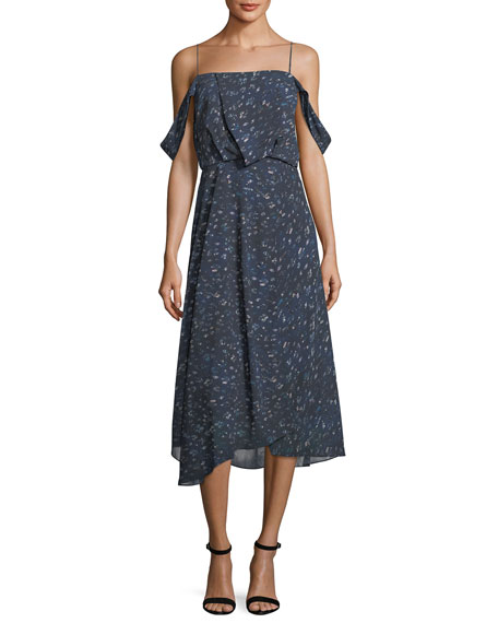 Camilla & Marc Lucia Off-the-Shoulder Chiffon Dress