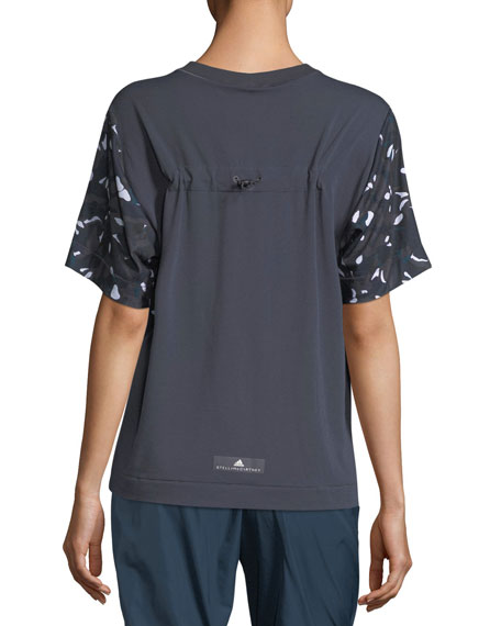 Ess Crewneck Short-Sleeve Swirl-Printed Performance Tee