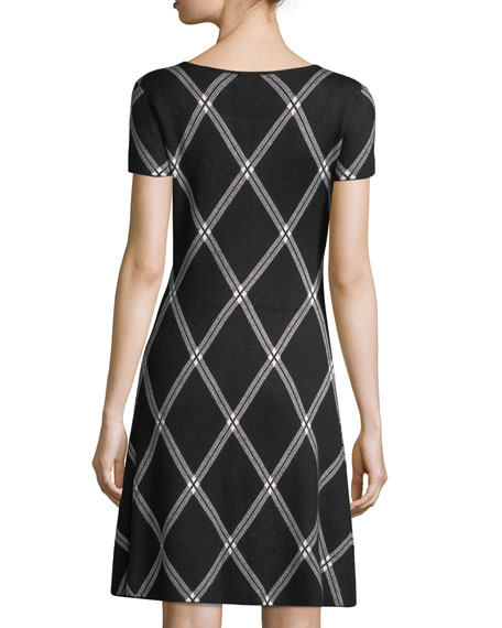 Plaid Jacquard-Knit Dress