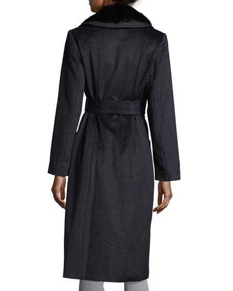 Cashmere Coat w/ Mink Collar
