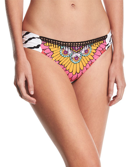 Ibiza Shirred-Side Swim Bottom