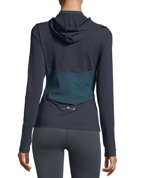 Run Long-Sleeve Half-Zip Pullover Hooded Tee