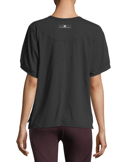 The Cool Check Mesh Cotton-Blend Tee