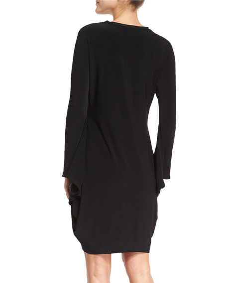 Boxy Modern Sculpture Jersey Cocktail Dress