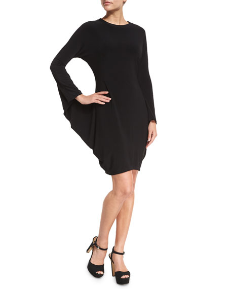 Norma Kamali Boxy Modern Sculpture Jersey Cocktail Dress