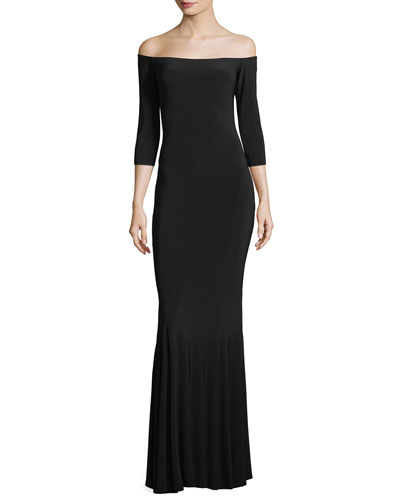 OFF SHLDR FISHTAIL GOWN