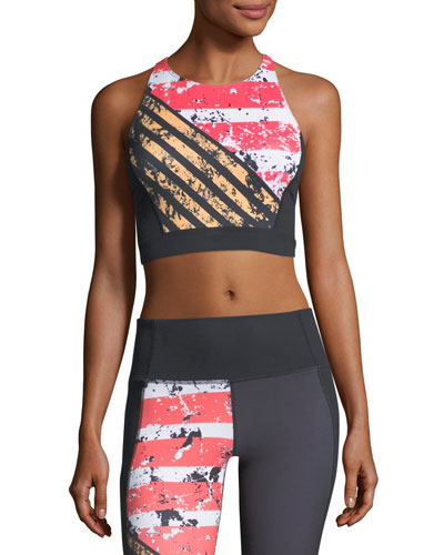 Mirror Shine Crop Performance Sports Bra