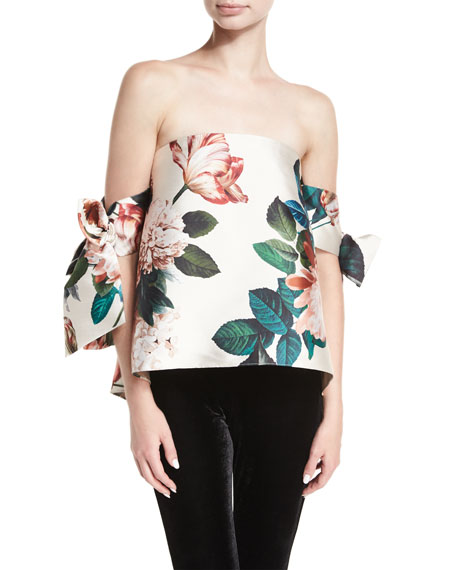 Sachin & Babi Benita Off-the-Shoulder Floral-Print Structured Top